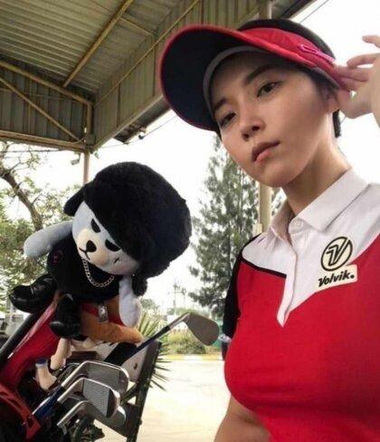 김사랑 골프 CF 대역 정현우 프로
