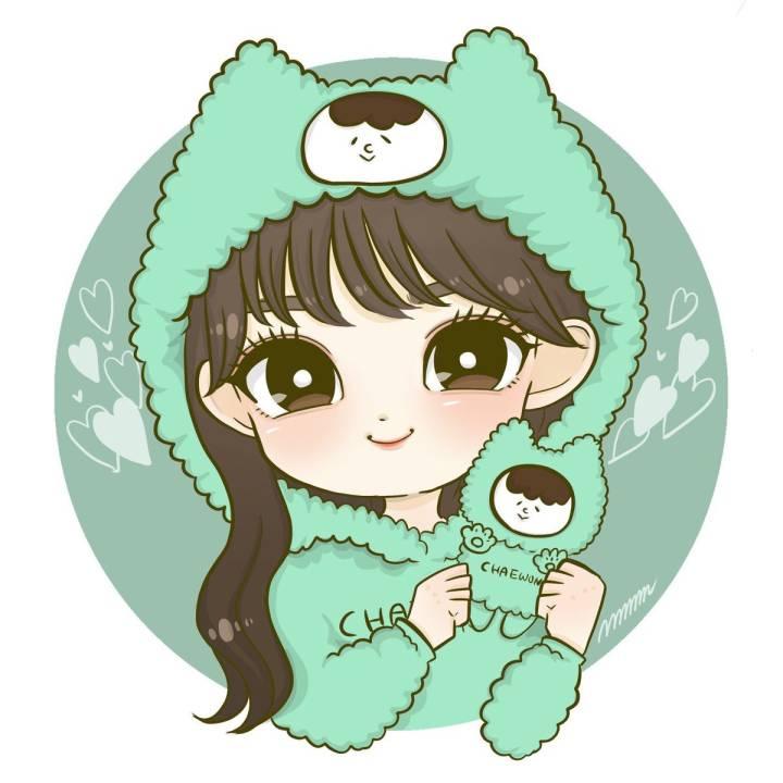 (아이즈원) 사쿠라가 만든 인형 든 멤버들 팬아트 12절