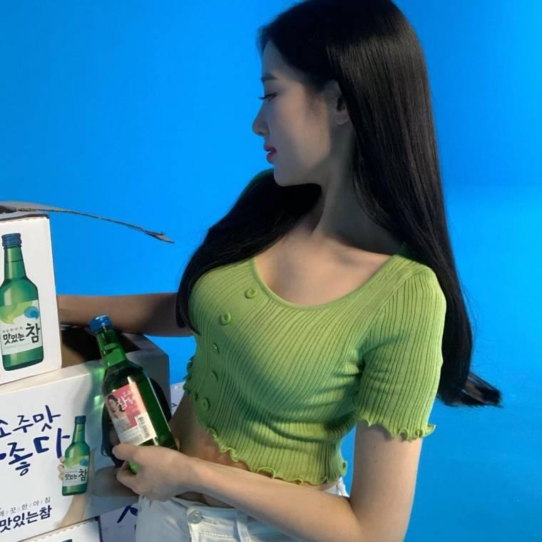 조현 참 소주 광고현장